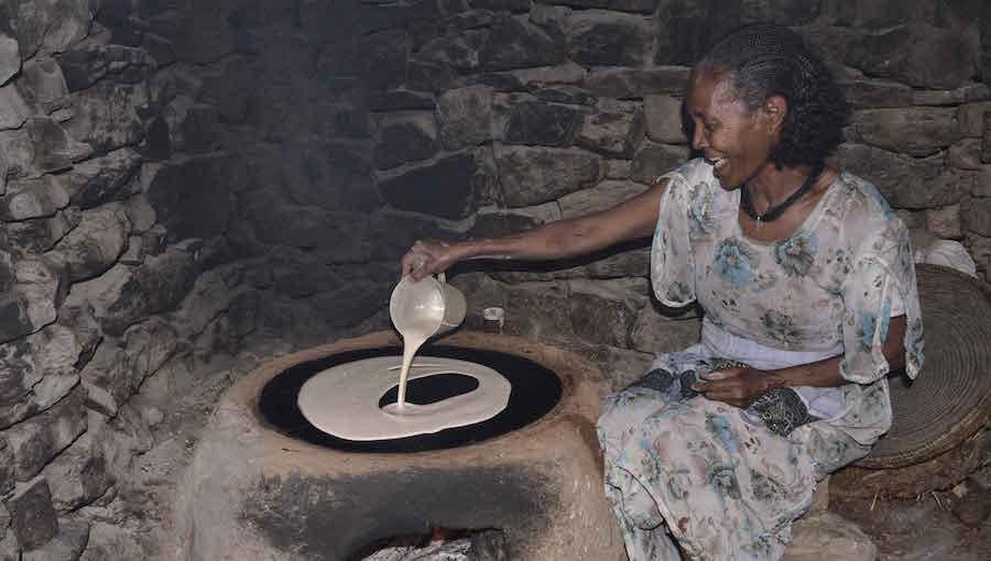 Injera recette galette ethiopienne erythréene djolo Cuisine