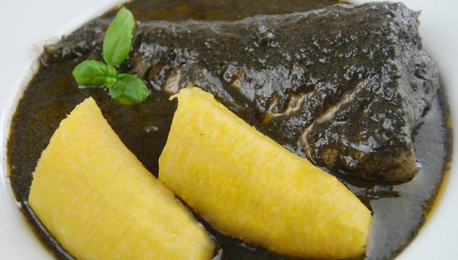 Mbongo Tjobi sauce ébène bassa cameroun djolo cuisine
