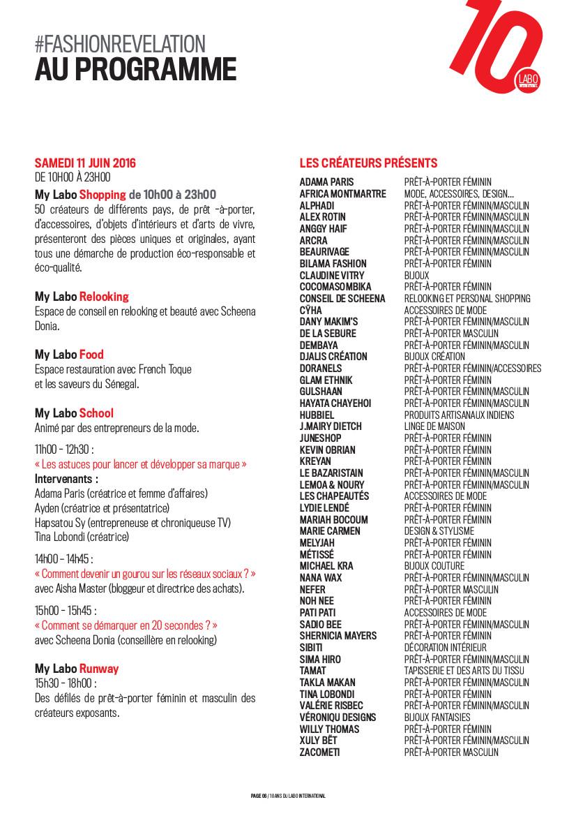 Labo 16 Programme 1