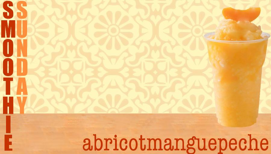 Smoothie Sunday : abricotmanguepeche Une