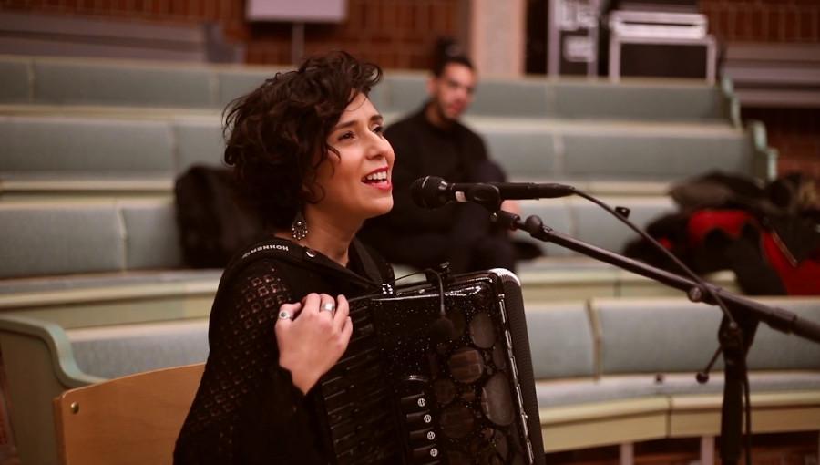 Youssra El Hawary, Bel Mazboot, en live, live, Fimeneast Festival, 2019, concert, accordeoniste egyptienne, musique egyptienne, suède