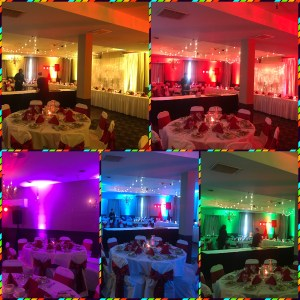 uplights uplighting wedding reception dj