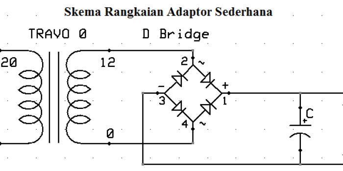 Skema Adaptor Sederhana