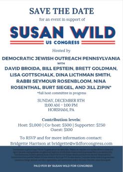 DJOP Fundraiser for Susan Wild!