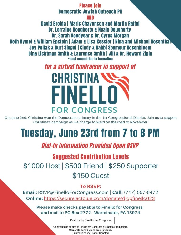 DJOP for Christina Finello - June 23rd!