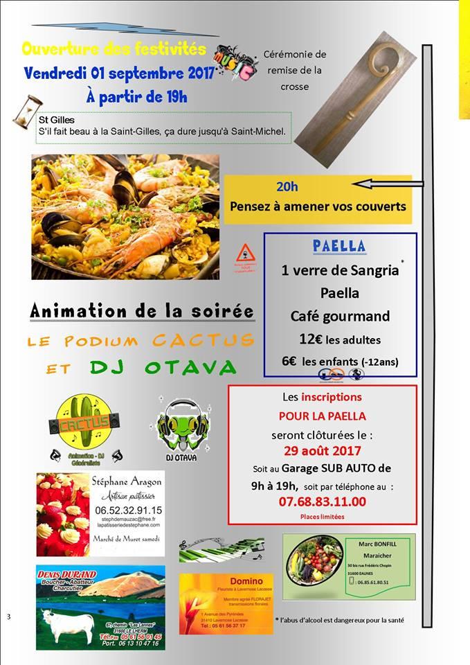 Programme fête de St Hilaire 2017