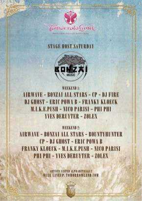 line up bonzai stage @ TML 2014
