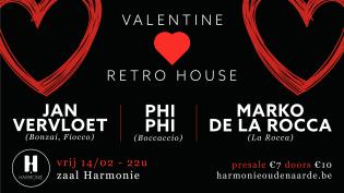 Valentine retro house @ Harmonie 14/02/2020