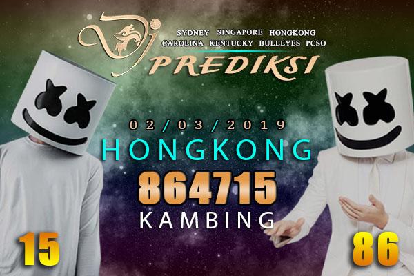 Prediksi Togel HONGKONG 2 Maret 2019 Hari Sabtu