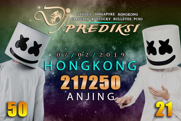 Prediksi Togel HONGKONG 7 Februari 2019 Hari Kamis
