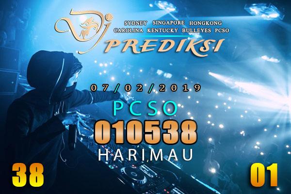 Prediksi Togel PCSO 7 Februari 2019 Hari Kamis