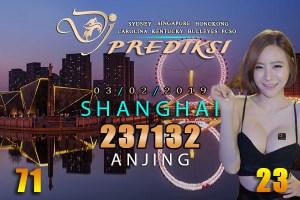 Prediksi Togel SHANGHAI 3 Februari 2019 Hari Minggu