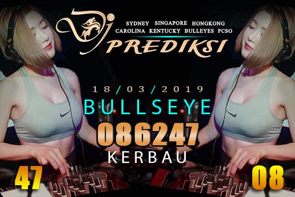 Prediksi Togel Bullseye 18 Maret 2019 Hari Senin