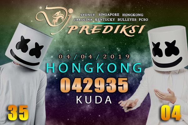 Prediksi Togel HONGKONG 4 April 2019 Hari Kamis