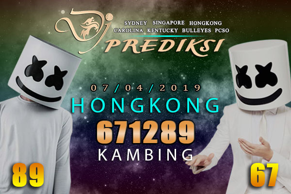 Prediksi Togel HONGKONG 7 April 2019 Hari Minggu