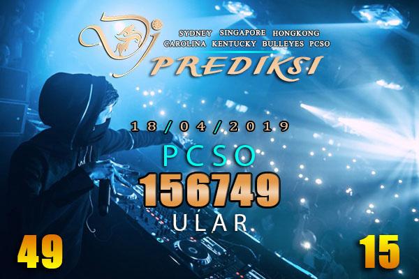 Prediksi Togel PCSO 18 April 2019 Hari Rabu