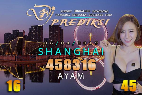 Prediksi Togel SHANGHAI 6 April 2019 Hari Sabtu