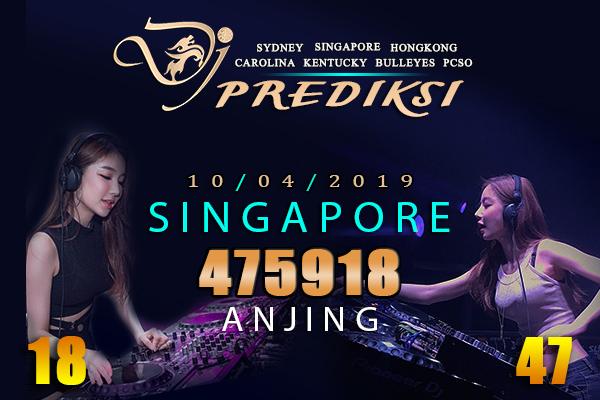 Prediksi Togel SINGAPORE 10 April 2019 Hari Rabu