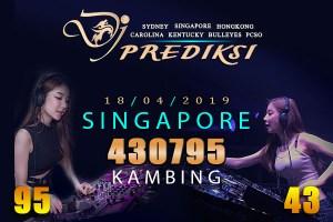 Prediksi Togel SINGAPORE 18 April 2019 Hari Kamis