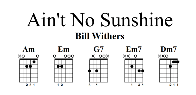 Aint No Sunshine Bill Withers Djpteaching Wollongong Nsw