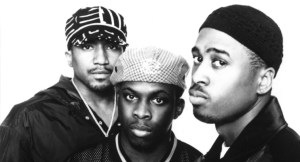 A Tribe Called Quest achieved most of its '90s success with the line-up of (from left) Q-Tip, Phife Dawg and Shaheed Ali Muhammad
