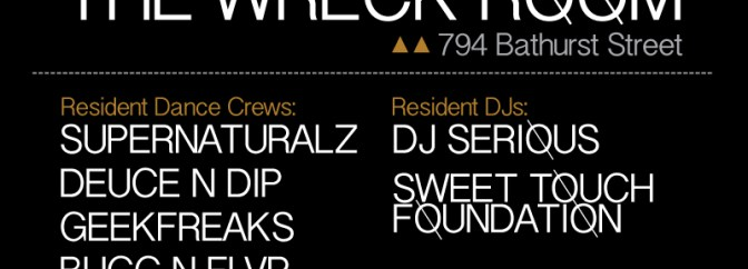 GET UP @ THE WRECK ROOM (Every Thursday in August)