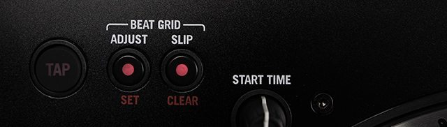 Beatgrid adjustment buttons (use in combination with platters)