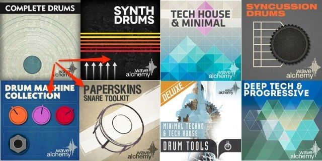 Wave Alchemy's Complete Drums bundles seven of the company's sample collections.