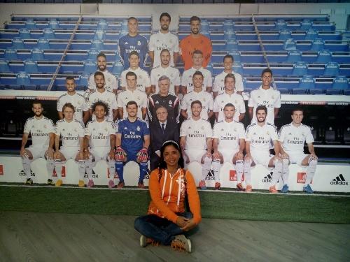 The whole team