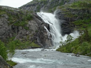 Nykkesoyfossen, at 600 meterd height