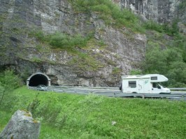 Parking just after the tunnel
