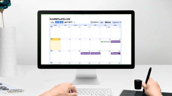 'KALENDEREN' - implementeret Google Kalender giver overblik over kommende arrangementer, foredrag på tværs af klubberne og højskolen. Desuden super nemt, at tilføje arrangementerne direkte til ens egen kalender. Se videoguiden hvor nemt du opretter arrangementer.