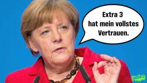 Merkel spricht Extra 3 Vertrauen aus