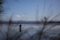 Adam fishing in Jervis Bay © Danielle Ryan Sept/Aug 2014