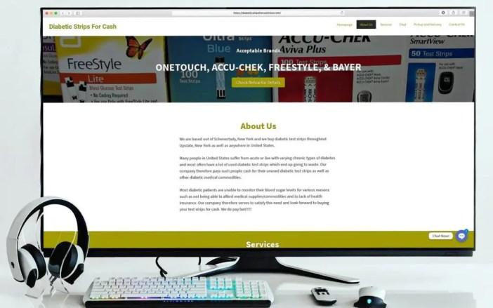 Diabetic Strips for Cash Website