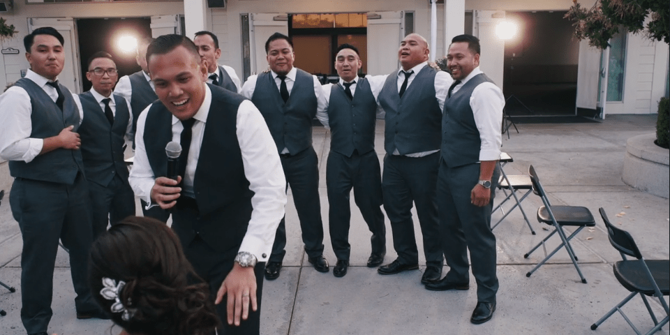 surprise groomsmen dance