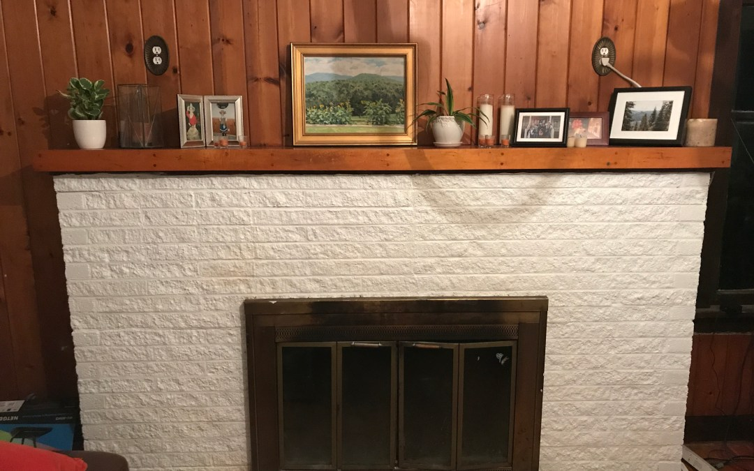 How to Patch and Paint a Brick Fireplace