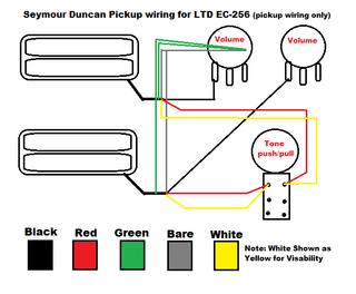 Wiring Diagram ec256  The ESP Guitar Company