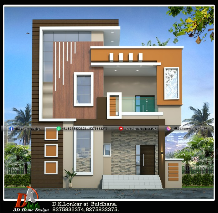 Simple home design for double floor house