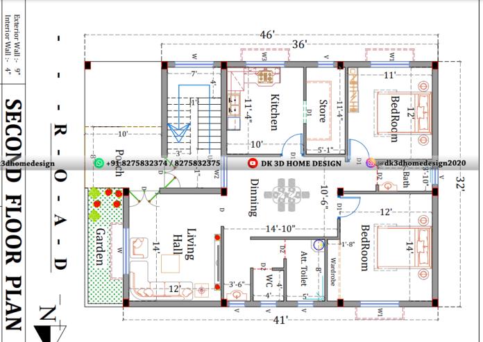 g+2 house plan