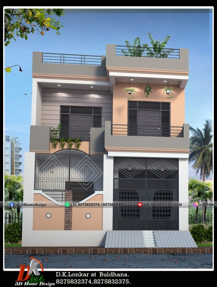 Simple house outside cream color combination