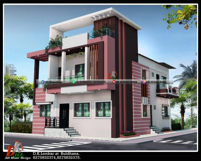 1200 sq ft double floor house design