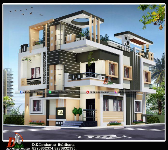 1200 sq ft house front elevation design
