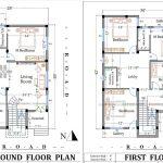 1200 sq ft 2 floor house plan