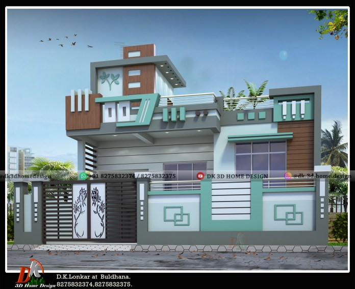 30x60 house front elevation designs
