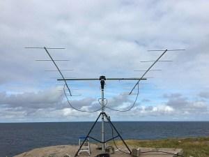CY9Y setup 2 x 9el yagi H polarisation
