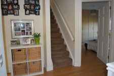 Stairs to converted attic bedroo,