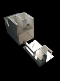 Architectural Model Component Showing Kitchen Layout
