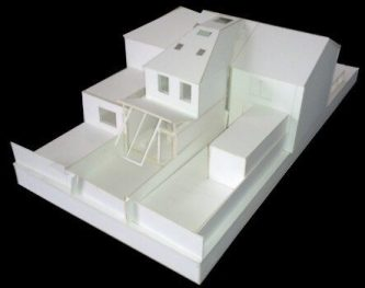 Architectural Model Showing Rear Extension