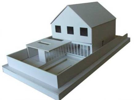 Traditional White Card Model Making Ensures a Considered Design